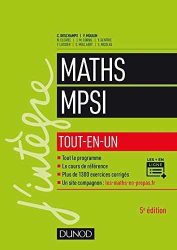 Mathématiques MPSI - Tout-en-un - 5e éd. par Claude Deschamps