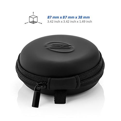deleyCON SOUNDSTERS Universelle Kopfhörer-Tasche - Case für In-Ear Ohrhörer - Robuster Schutz für Unterwegs - integriertes Fach - für unzählige Kopfhörer passend - 3