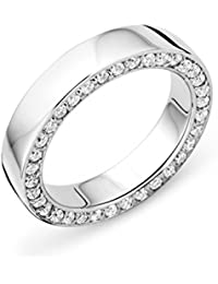 Miore Ladies 925 Sterling Silver Zirconia Wedding Band