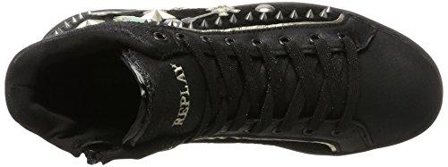 REPLAY Penly, Sneaker a Collo Alto Donna Nero (Black)