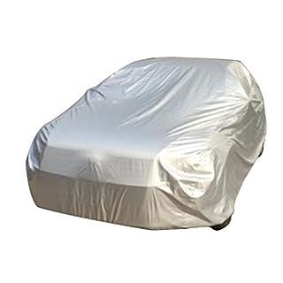 logei® Wasserdicht Autoabdeckung Auto Ganzgarage Autogarage Abdeckung Abdeckplane Autoplane spezielles Cover gut Qualität XXL, 508*178*120cm, silber