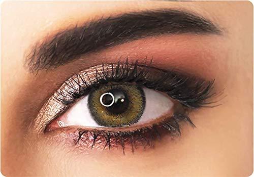 Lenti a contatto colorate naturali color nocciola (marrone/castano) - senza correzioni - trimestrali + portalenti personalizzato adore gratuito - bi hazel