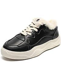 SimpleC Botas de Nieve Otoño Invierno Cuero Suave Botines Outdoor Trekking Zapatos Tobillo Forro Piel Sneakers