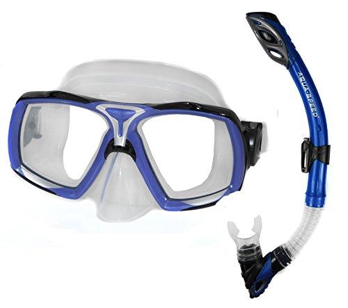 AQUA-SPEED Taucherset Tauchermaske und Schnorchel Elea + Rio