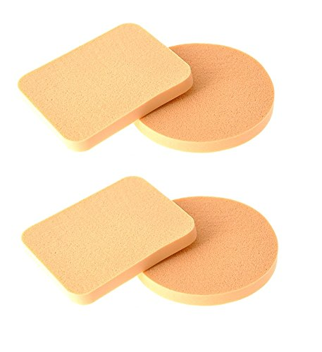 Out Of Box Pack of 4 Imported Make up Cosmetic Foundation Powder Puff Sponge