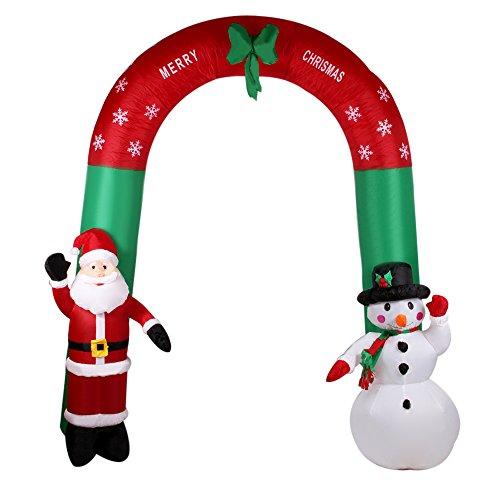 Anself-24m-Arco-Gonfiabile-con-Babbo-Natale-e-Pupazzo-di-Neve-Gonfiabile-Agitando-la-Mano-Babbo-Natale-Decorazione-79-ft