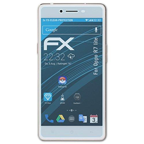 atFolix Schutzfolie kompatibel mit Oppo R7 lite Folie, ultraklare FX Bildschirmschutzfolie (3X)