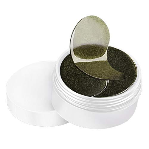 Lurrose 60pcs Bamboo Charcoal Augenmaske Pads Anti-Falten-und Feuchtigkeits Augenmaske Augentaschen Eliminieren Masken für Erwachsene - Hauttypen Feuchtigkeit Maske