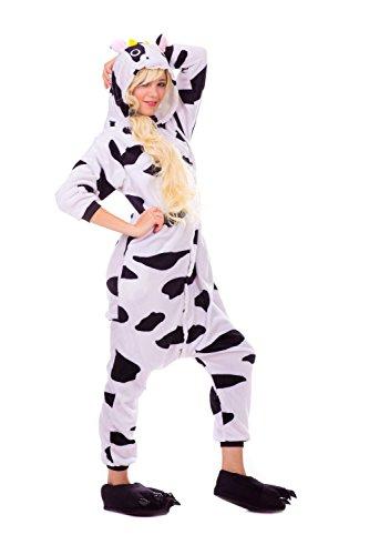 Kuh Pyjamas Kostüm Jumpsuit Erwachsene Unisex Tier Cosplay Halloween Fasching Karneval Plüsch Schlafanzug Tierkostüme Anzug - Tween Karneval Kostüme