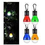 Tragbare LED Campinglampe Mit Karabiner Camping Laterne Zelt Leuchtmittel Zeltlampe Glühbirne Set Für Camping, Wasserdicht, Abenteuer, Angeln