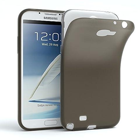 Samsung Galaxy Note 2 Hülle - EAZY CASE Ultra Slim Cover TPU Handyhülle Matt - dünne Schutzhülle aus Silikon in Schwarz / Anthrazit