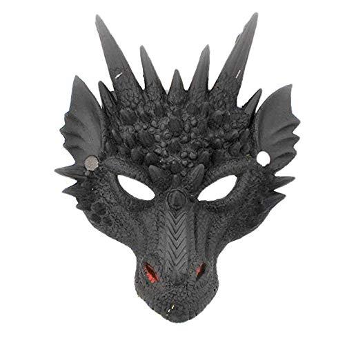 Of Kostüm Game Thrones Einfach - SeeMeInThat Game Thrones Dragon Maske Reptil Horror Erwachsene Rot oder Schwarz Fasching Weltbuchwoche