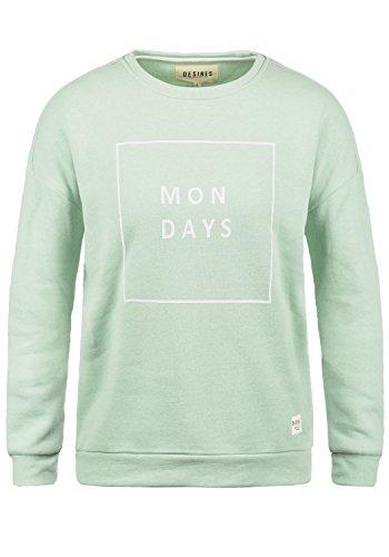 DESIRES Emma Damen Sweatshirt Pullover Basic Sweater mit Rundhals-Ausschnitt aus hochwertiger Baumwollmischung, Größe:S, Farbe:Seacr. M (3051M) (Emma Damen-jeans)