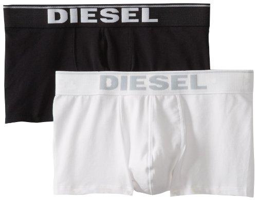 Diesel Herren KORY2PK Boxershorts Schwarz/Weiß