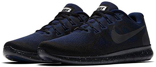 Nike Herren Free Run 2017 Shield Laufschuhe, Schwarz (Black/Black-Black-Obsidian), 45 EU