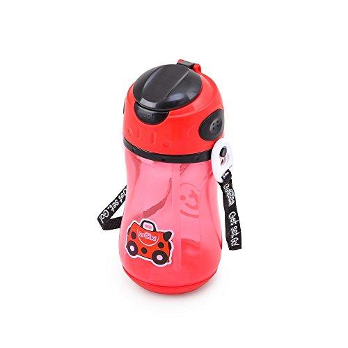Trunki Bouteille avec Paille et Sangle pour Enfant - Harley la Coccinelle (Rouge)