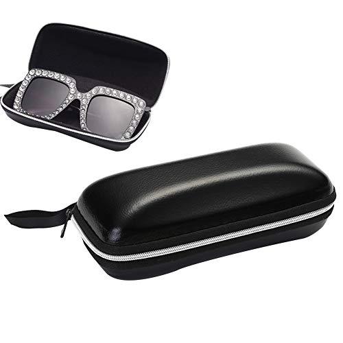 Tragbare Leder Brillenetui Abdeckung Reißverschluss Sonnenbrille Aufbewahrungsbox Brillenzubehör - Halten Sie die Linsen frei von Staub und Kratzern