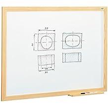 Pizarra blanca estratificada marco madera Faibo 100x200cm