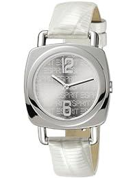 dfaf39ffc24f Esprit 4410734 - Reloj analógico de Mujer de Cuarzo con Correa de Piel  Plateada - Sumergible