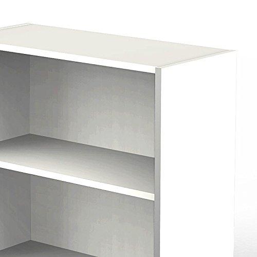 Aktenregal Eck-Anbauregal LUGANO257 weiß 183cm 5OH