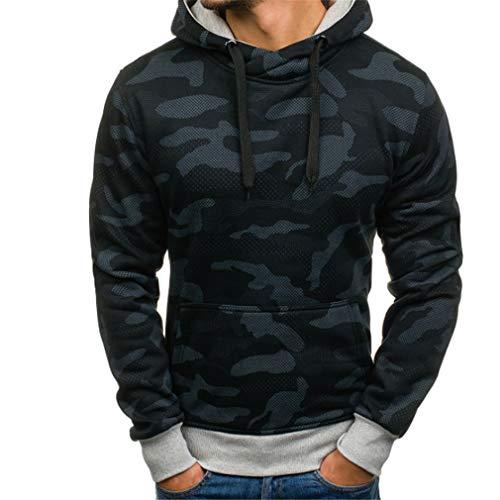 mouflage Beiläufige Hoodies Männer Mode Trainingsanzug Männlichen Sweatshirt Hoody Mens Zweck Tour Black M ()