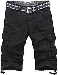 YiJee Homme Cargo Shorts Vintage Style Pantalon Court Bermuda