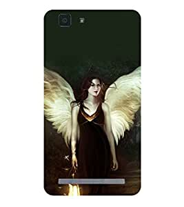 printtech Fantasy Beautiful Girl Back Case Cover for vivo X5Max