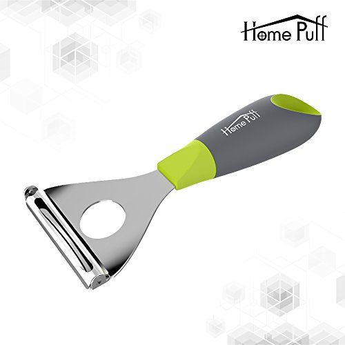 Home Puff Premium Peeler with Grip Handle, Japanese Stainless Steel Blade