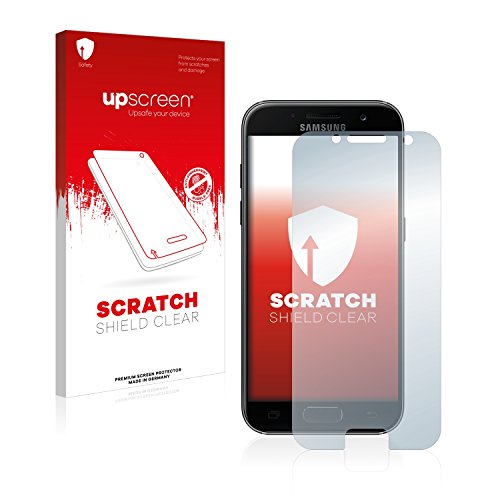 upscreen Scratch Shield Schutzfolie für Samsung Galaxy A3 (2017) - Kristallklar, Kratzschutz, Anti-Fingerprint