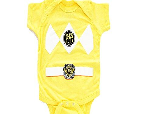 Rangers Power Kostüme Gelb (Power Rangers Baby Ranger Kostüm Strampler Onesie (18-24 Monate,)
