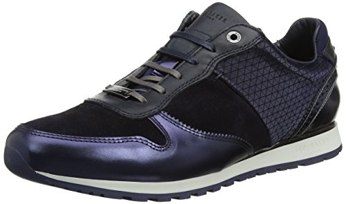Ted Baker Herren Shindl Lthr Am Dk Blue / Multi Sneaker Blau (blu / Multi)