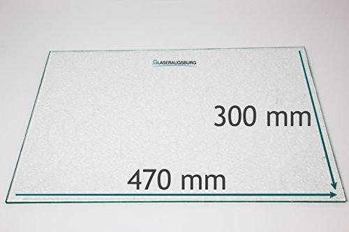 Kühlschrank Einlegeboden/Glasplatte / Gemüsefach – Strukturglas 4 mm dick – 470 mm x 300 mm - Direkt vom Glasereifachbetrieb!!!