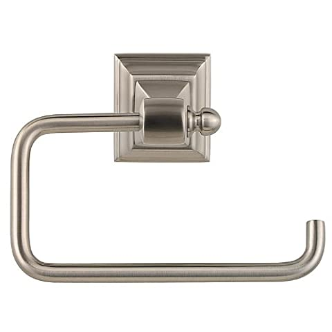 Baldwin 3593.150.SP Stonegate Single Post Tissue Holder, Satin Nickel, 1-Pack by Baldwin (English Manual)