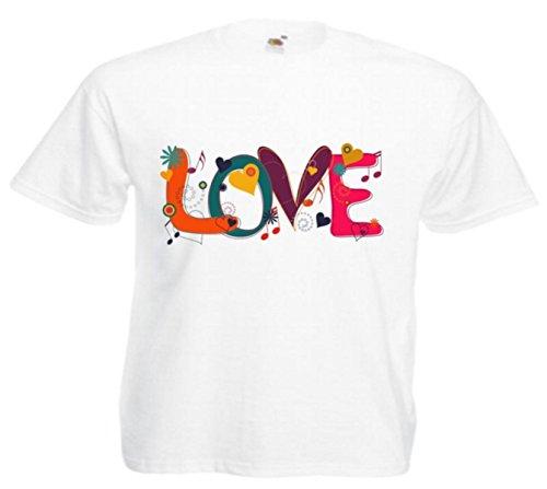 Motiv Fun T-Shirt Love Liebe Herz Liebe Treue Verliebt Darling Motiv Nr. 3969 Weiß