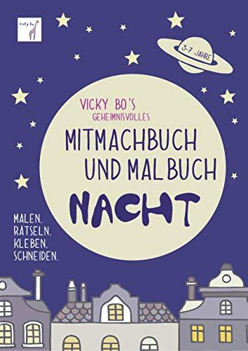 Mitmachbuch und Malbuch - Nacht. 3-7 Jahre