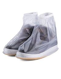 Eagsouni® Impermeable y Antideslizante Lluvia Cubierta del Zapatos para botas cubre reutilizables para mujeres hombres moto cicleta y bicicleta
