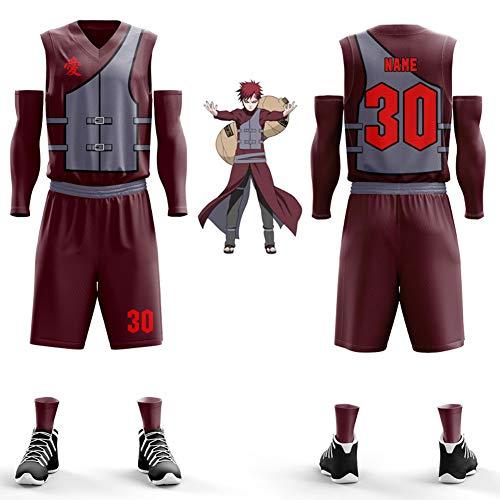 ierte Basketball Uniform, Dragon Ball, Pirat, Persönlichkeit, Basketball Weste, Wettbewerb, benutzerdefinierte Trikot (fünf Sätze)-XXL ()