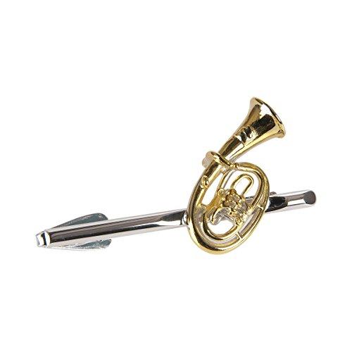 Krawattenhalter Tenorhorn (groß) - Schönes Geschenk für Musiker mit Geschenkverpackung