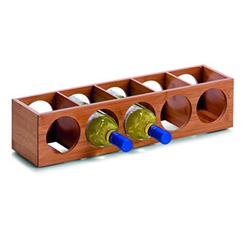 Zeller 13565 Weinregal 13.5 x 12.5 x 53 cm, Bamboo