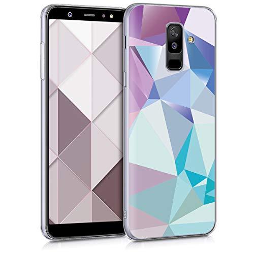 kwmobile Samsung Galaxy A6+/A6 Plus (2018) Hülle - Handyhülle für Samsung Galaxy A6+/A6 Plus (2018) - Handy Case in Hellblau Rosa Blau