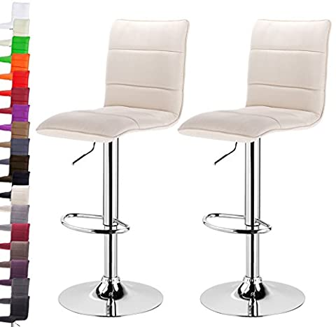 Woltu BH60cm-2-a 2 x swivel barstools with backrest breakfast bar