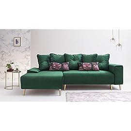 Divano dritto imbottito 3 posti Confort24 Pedro decorazione per casa e soggiorno in similpelle