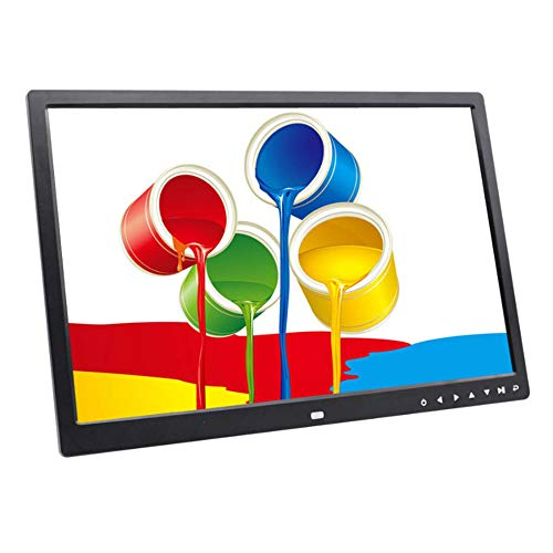 SPFDPF Digitaler Bilderrahmen 17-Zoll-Touch-Taste Elektronisches Album Hdmi Hd 1080P Wandhalterung Video-Werbemaschine