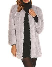 Suchergebnis auf für: Kunstpelz Mantel Grau
