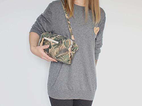 Kork Handtasche, Monstera Umhängetasche, vegan, schwarze Schultertasche, Geschenk, - 5