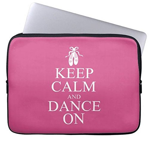 Elettronica Borsa in neoprene Laptop maniche 160513 - 2 Keep Calm and Dance On Ballerina Shoes 15-15.3 inches
