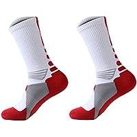 TOOGOO(R) 1 Pair Professional Basketball Socks Athletics Socks Outdoor Sports Socks Stocking(white)