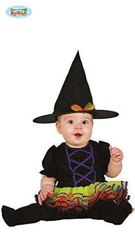 (Baby Hexe mit Tüll Bunt Kostüm für Kinder Karneval Fasching Halloween Gr. 74-92, Größe:86/92)