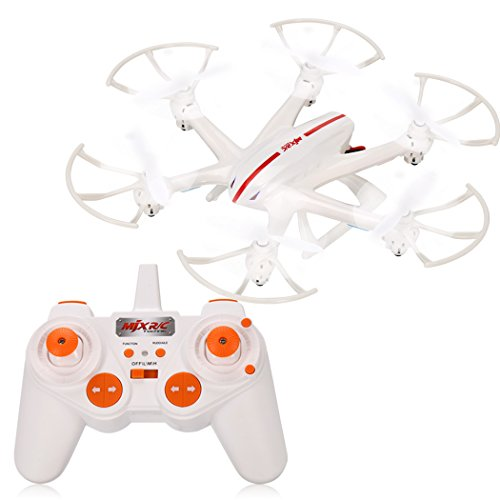 Arshiner Quadcopter Drone MJX X800 Hexacopter 6-Axis Gyro 2.4GHz RC 3D roll-C4006 FPV Trasmissione in Tempo Reale, Mini UFO Bianco