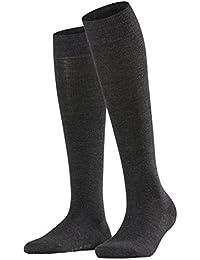 FALKE Damen Kniestrumpf Softmerino, 1 Paar, versch. Farben, Größe  35-42 - Warme, klimaregulierende Schurwolle außen und hautfreundliche Baumwolle innen